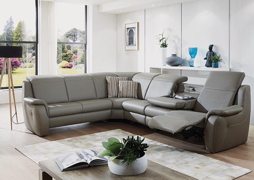 eckgarnitur in leder r ger m bel inh bernd r ger in herbrechtingen. Black Bedroom Furniture Sets. Home Design Ideas